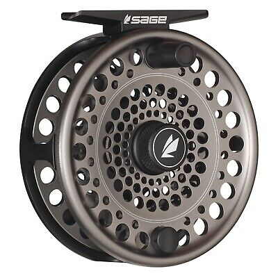 $375 • Buy Sage Trout Reel Stealth/Silver - ALL SIZES - FREE LINE-BACKING - FREE FAST SHIP