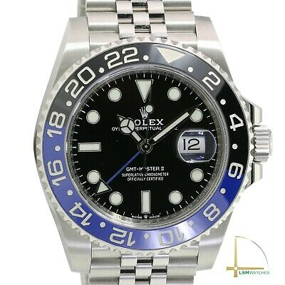 $ CDN24563.07 • Buy Men's Rolex GMT-Master Steel II Batman 40mm Watch W/ Black Dial 126710BLNR