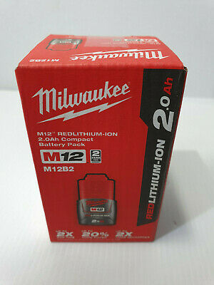 AU59 • Buy NEW! Milwaukee 12v 2Ah Battery M12B2