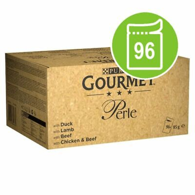 Gourmet Perle Pouches Mixed Mega Pack Wet Cat Food 96 X 85g • 39.99£
