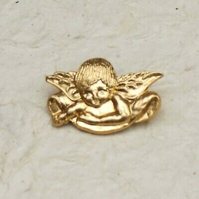 £3.25 • Buy Gold Colour Cupid / Angel Buttons With Back Shank, Pack Of 4
