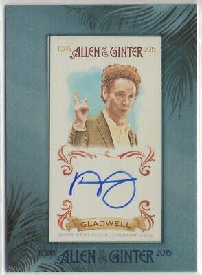 $29.99 • Buy 2015 Topps Allen And Ginter Framed Mini Autograph #AGAMG Malcolm Gladwell Auto