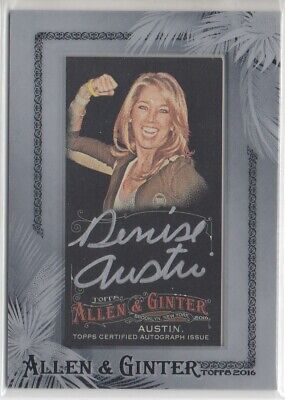 $14.99 • Buy 2016 Topps Allen And Ginter X Silver Framed Mini Autograph Denise Austin Auto