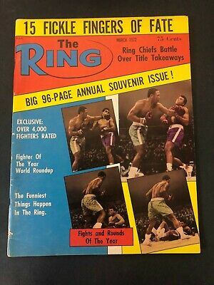 $14.99 • Buy Vtg The Ring Magazine Muhammad Ali Cassius Clay Boxing March 1972