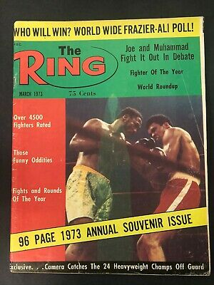 $14.99 • Buy Vtg The Ring Magazine Muhammad Ali Cassius Clay Boxing March 1973