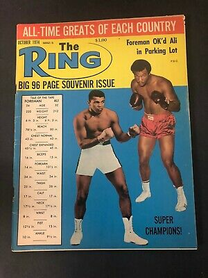 $14.99 • Buy Vtg The Ring Magazine Muhammad Ali Cassius Clay Boxing October 1974