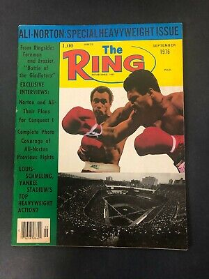 $14.99 • Buy Vtg The Ring Magazine Muhammad Ali Cassius Clay Boxing September 1976