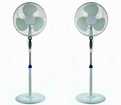 £33 • Buy 16  Electric Oscillating Pedestal Air Cooling Fan With Remote Control Standing