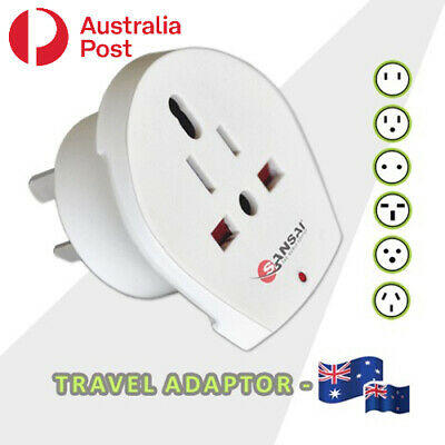 AU10.99 • Buy 1 UK European US JP Asia Universal To AU Australia Plug Travel Adaptor Converter