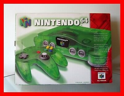AU210 • Buy Nintendo 64 N64 Jungle Green: BOX ONLY In Excellent Condition!!! (No Console)