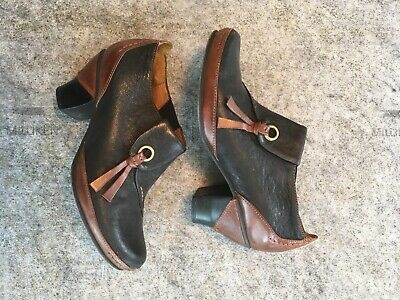 $16 • Buy Everybody Low Cut Boots Leather Pull On Women Booties Brown & Black US  6.5 - 7