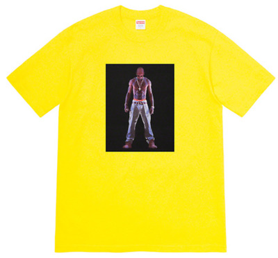 $ CDN46.31 • Buy 2020 Supreme Tupac Hologram Yellow T-Shirt (Size Large) Box Logo Tee Relief