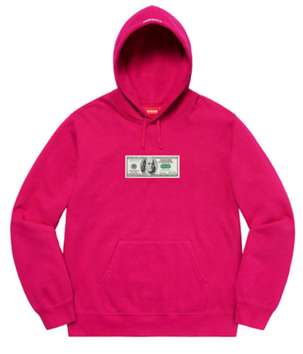 $73 • Buy Supreme Franklin Hooded Sweatshirt Fuchsia Size Large Box Logo Hoodie IN HAND