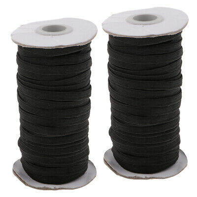 $ CDN9.17 • Buy 2 Roll Elastic Band Sewing Cord Rope DIY Clothes Sewing Trim Rope Cord 6mm