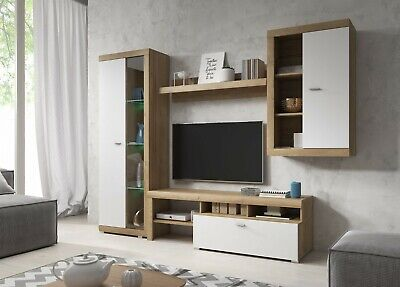 Living Room Furniture Set Tv Unit Display Stand Wall Mounted Cupboard Cabinet • 350£