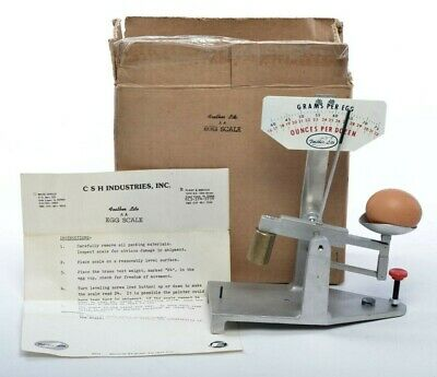 $99 • Buy Antique Feather Lite Aluminum Egg Grading Scale With Box And Instructions