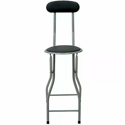 Folding Compact Padded Stool High Chair Breakfast Bar Stools Seat Home Office • 19.49£