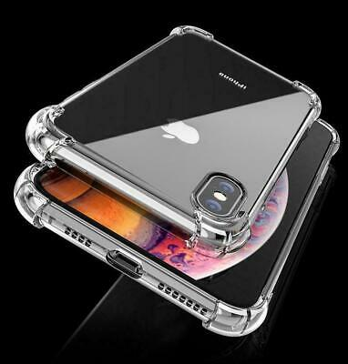 CLEAR Shockproof Case For IPhone 12, 11 Pro Max XR X XS 8 7 6 SE 2 Edge Silicone • 1.95£