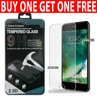 For IPhone 7 6 6s 8 Plus SE 2 2020 Genuine Tempered Glass Screen Protector • 2.95£