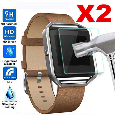 AU1.99 • Buy 2x Tempered Glass Watch Screen Protector For Fitbit Surge Ionic Blaze Inspire HR