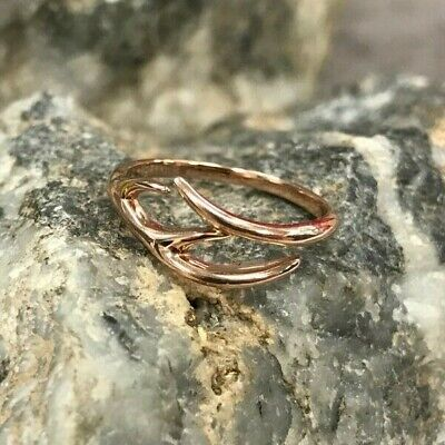 Official Welsh Clogau 9ct Rose Gold Red Hart Ring £150 Off! SIZE P • 120£
