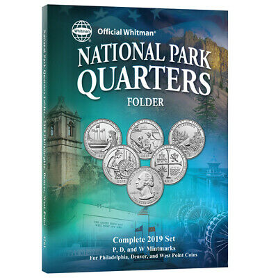 $ CDN6.96 • Buy Official Whitman 2019 National Park Quarters Folder With W Mint Mark~3 Page~New~