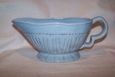 $3.99 • Buy Roscher Enchanted Lines Earthenware Powder Blue Gravy Boat