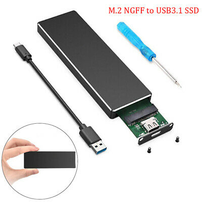 AU25.17 • Buy M.2 NGFF SATA SSD 6Gbps To USB3.1 Converter Adapter Hard Disk Box Enclosure C DH