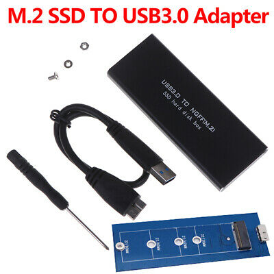 AU23.34 • Buy USB-C M.2 NGFF Hard Drive Enclosure B Key SATA SSD Reader To USB 3.0 Adapter DH