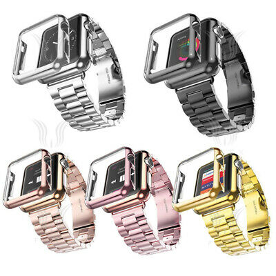 $ CDN4 • Buy For Apple Watch Series 5/4/3/2 Stainless Steel Wrist Strap Watch Band Case Cover