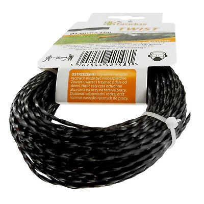 WIRE CORD / SPIRAL STRIMMER LINE Ø 3mm X 15M // Petrol Strimmers // HEAVY DUTY • 6.99£