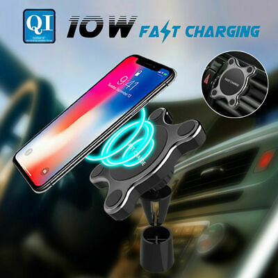 AU20.88 • Buy Qi Wireless Car Fast Charger Phone Holder Stand For IPhone X XS Samsung S9+ S10