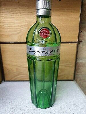 EMPTY Bottle Of Tanqueray No 10 70cl. Green Glass • 4£