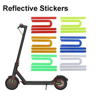 AU11.96 • Buy 4Pcs Scooter Reflective Stickers For Xiaomi Mijia M365 Pro Electric Sco GtP DH