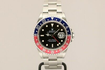 $ CDN12811.47 • Buy Rolex GMT Master Stainless Steel Pepsi Bezel Automatic Watch 16700 S Series