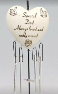 £5.99 • Buy Special Dad Always Loved Sadly Missed Memorial Heart Wind Chime Only Grave