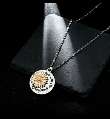 You Are My Sunshine Sunflower Daisy Necklace Pendant Birthday Christmas 828 • 4.99£