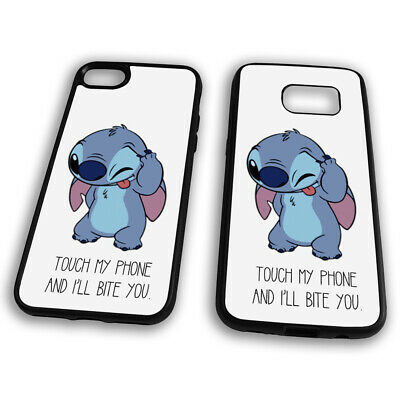 Touch My Phone And I'll Bite You Lilo & Stitch Experiment TPU Phone Case Cover • 7.49£