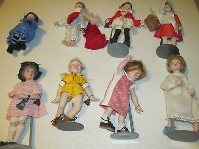 $499.99 • Buy Vintage/Antique NORMAN ROCKWELL/MARY MOLINE GERMANY LOT OF 13 PORCELAIN DOLLS