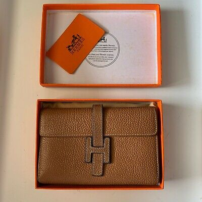 AU360 • Buy Hermes Paris H-logo Wallet In Light Brown