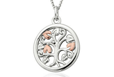 NEW Official Welsh Clogau Silver & Rose Gold Tree Of Life Pendant (22 ) £30 Off! • 69£