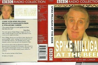 P1  SPIKE MILLIGAN At The Beeb - Double Cassette - Audio Comedy  EX CONDITION • 3.99£