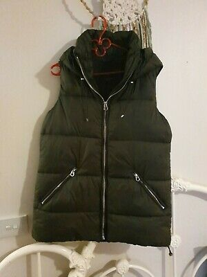 AU19.99 • Buy Zara Puffer Vest. Warm And Gorgeous! Longer With Hood. Size S But Fits Bigger