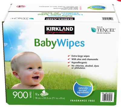 AU55.89 • Buy New Kirkland Signature™ Unscented Baby Wipes Ultra Soft Bulk 9 X 100ct Pack