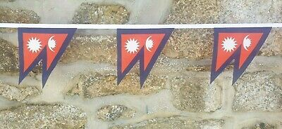 £8 • Buy Nepal Flag Polyester Bunting - Various Lengths