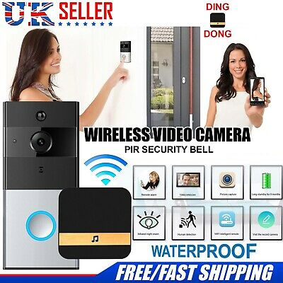 Camera Bell CCTV Smart Doorbell WiFi Wireless Video Intercom Door Ring Security • 29.99£