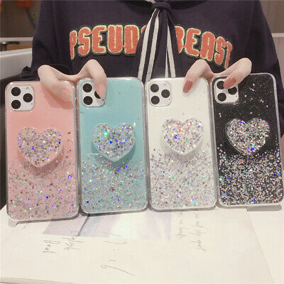 AU7.99 • Buy For IPhone 11 Pro Max XR 8 7 Shockproof Girls Glitter Kickstand Bling Case Cover