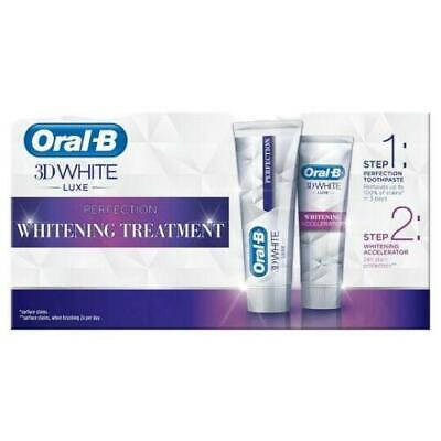 View Details Oral-B 3D Teeth Whitening Accelerator Treatment Toothpaste White Luxe Perfection • 7.71£