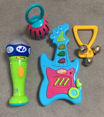 Leapfrog Learn And Groove Microphone French English Musical Guitar & Bells Toys • 4.95£
