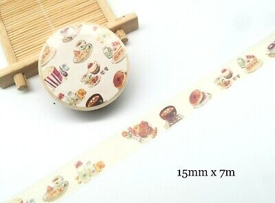 AU2.40 • Buy Washi Tape Daily Foods Meals 15mmx7m MT439